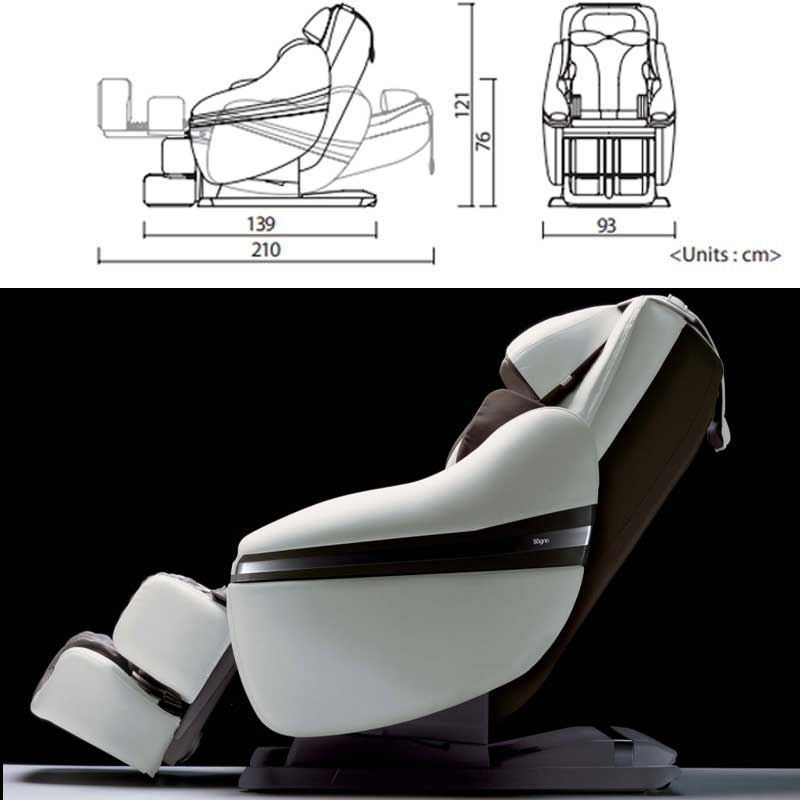 Features of the Inada Dreamwave massage chair